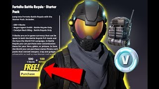 "How to get the ""Rogue Agent"" for FREE!!! (Fortnite Battle Royale Starter Pack)"