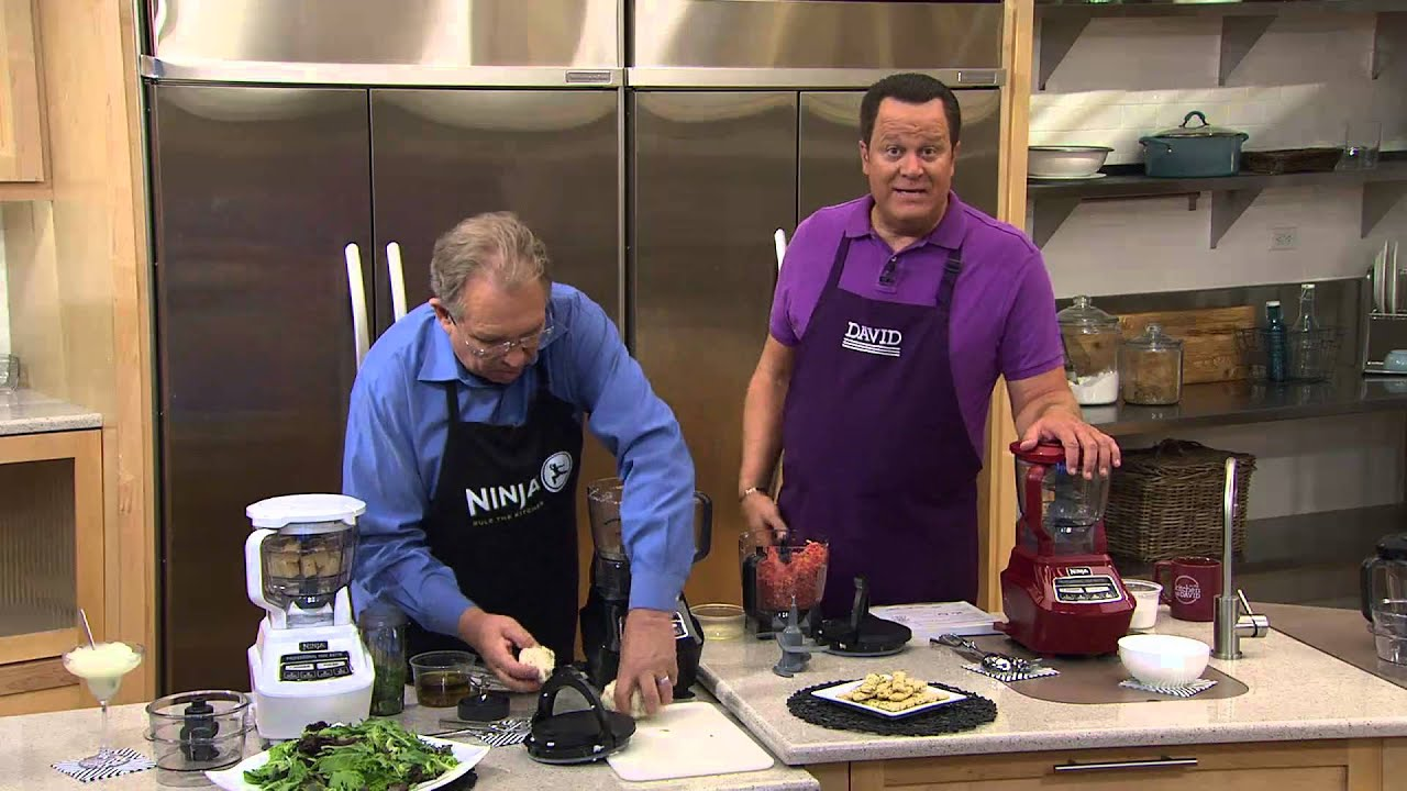 Ninja 72 oz. Mega Kitchen System with Nutri Ninja & Recipe Book with David  Venable