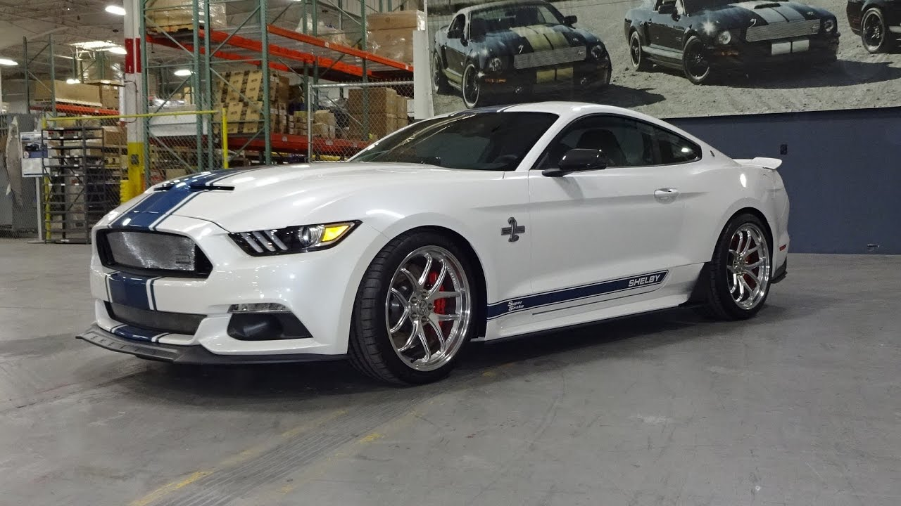 2017 super snake shelby mustang in white blue engine sound on my car story with lou. Black Bedroom Furniture Sets. Home Design Ideas