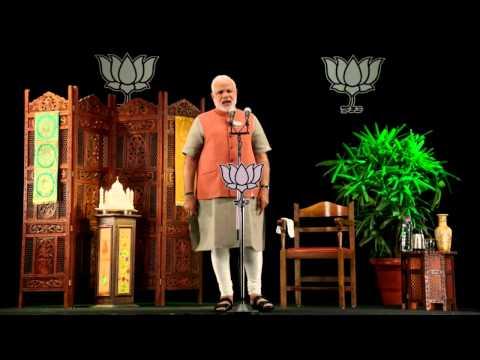 Shri Narendra Modi addressing Public Meeting across India via 3D Technology
