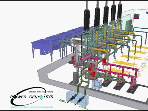 """DEMERS Heat Recovery System """"As-Built"""" at 8 MWe Landfill Gas Cogeneration Plant"""