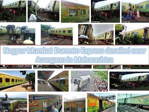 Nagpur Mumbai Duronto Express derailed near thane