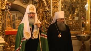 Патриарх Кирилл посетил Псково-Печерский мужской монастырь