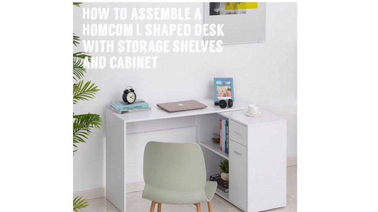 How To Assemble a Homcom L Shaped Desk With Storage Shelves and Cabinet