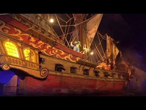 [4K - Low Light] Pirates Of The Caribbean - Magic Kingdom - Walt Disney World Resort