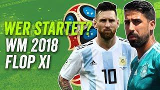 Die Flop XI der WM 2018 feat. Müller, Lewandowski und Higuain! Wer startet?