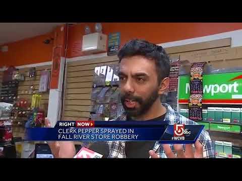 Clerk pepper sprayed in convenience store robbery
