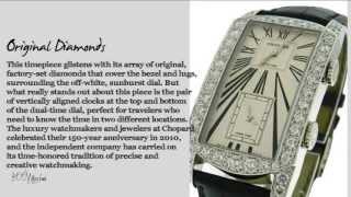 Chopard L.U.C. Dual Tec 18k White Gold Diamond Auto Watch