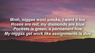 Dreamville  - Sunset ft J. cole & Young nudy (lyrics)