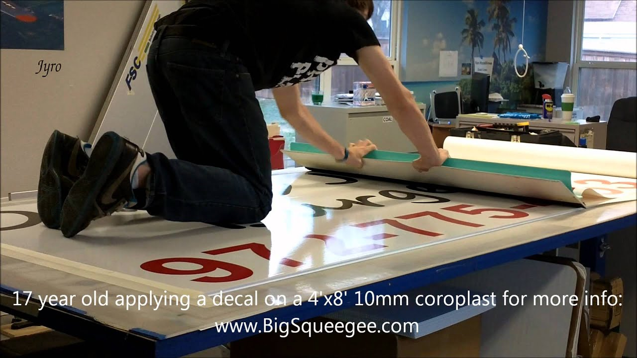 The  BIG Squeegee Vinyl Application Tool YouTube - Custom vinyl decal application tools