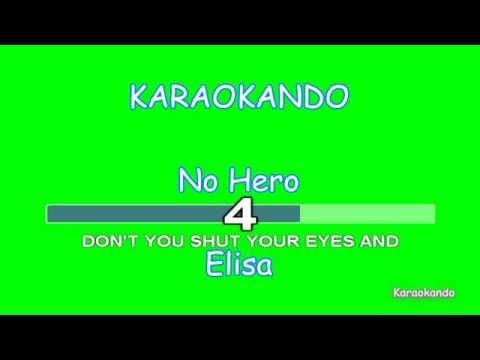 Karaoke - No Hero - Elisa ( Testo ) HD