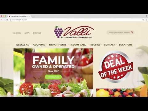 Valli International Fresh Market Online Coupon Tutorial