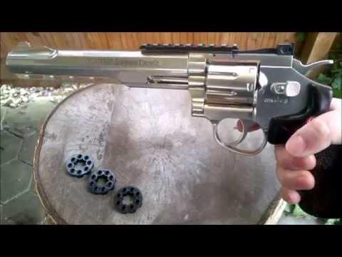 "Download Ruger SuperHawk 8"" Review / Test Co2 6mm BB"