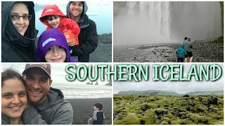 Tour of Southern ICELAND! Skógafoss Waterfall, Reynisdrangar, and Jökulsárlón | Day 2 Vlog