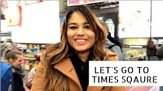 (New York City Travel Vlog 2019) Let's Go To Times Square!