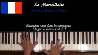 La Marseillaise National Anthem of France Piano Tutorial at Tempo