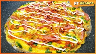 Cách Làm BÁNH TRÁNG NƯỚNG Bằng Chảo Giòn Rụm Hấp Dẫn - Street Food Vietnamese Pizza Recipe - ENG CAP