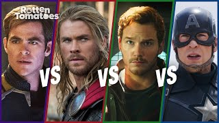Chris Pine vs. Chris Hemsworth vs. Chris Pratt vs. Chris Evans | Rotten Tomatoes