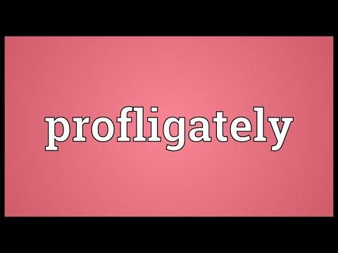 Header of profligately