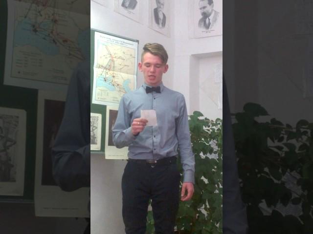 Изображение предпросмотра прочтения – НиколайБеспалько читает произведение «России» В.В.Маяковского