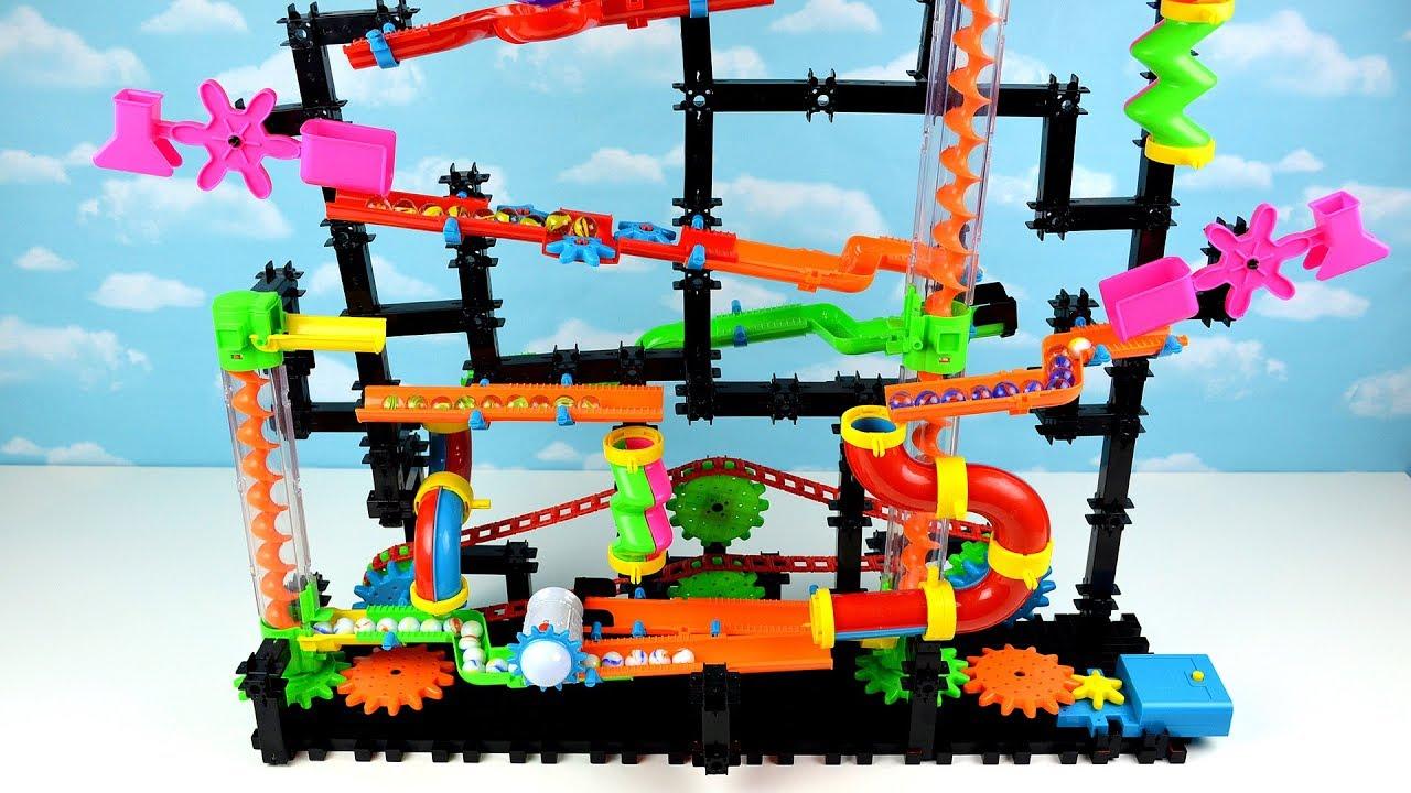 Aprende Colores con Tobogán de Bolas y Canicas! Juguete Juegos Infantiles Marble Maze