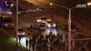 Спецназ разбивает авто в Минске
