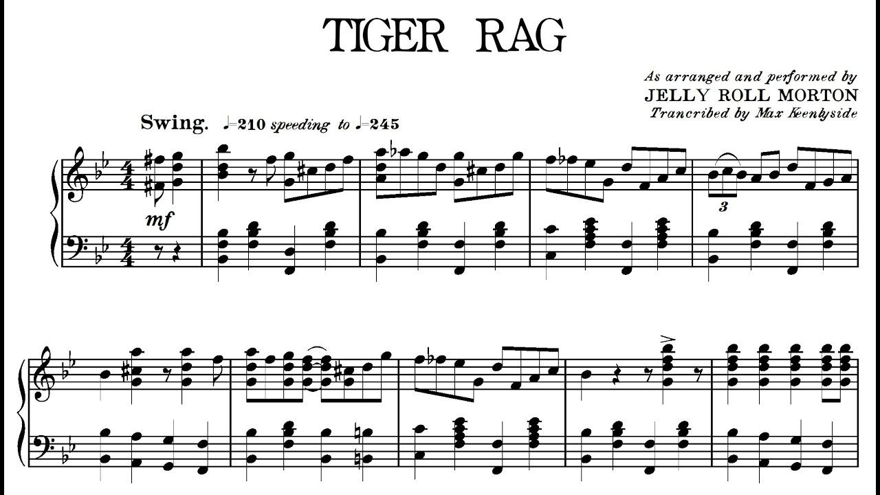 Tiger Rag Jelly Roll Morton Download The Pdf Transcription