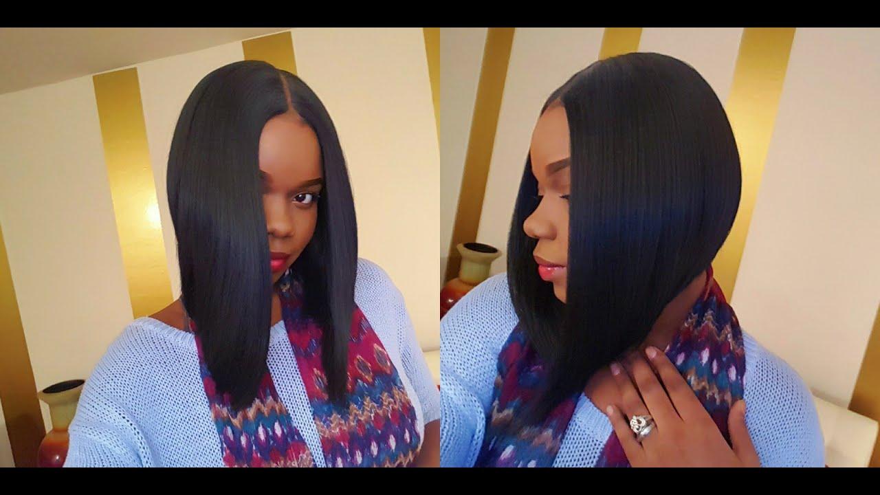new born free mlc159 lace wig: nicki minaj middle part bob! - youtube