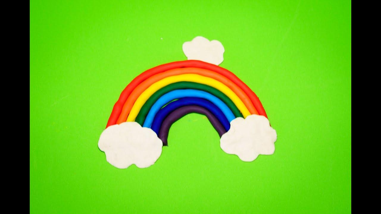 Làm cầu vòng 7 màu từ đất sét Play Doh - How to make a rainbow from Play Doh