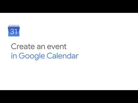 How To: Create an event in Google Calendar
