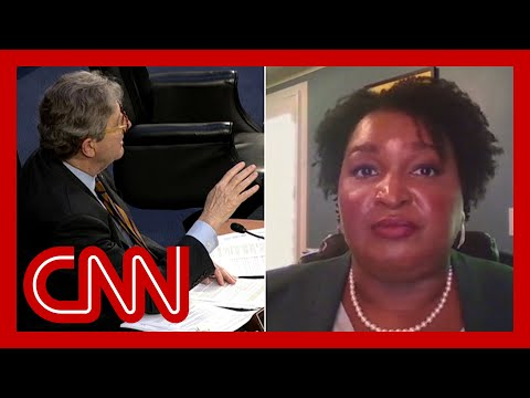 Stacey Abrams fires back at GOP senator about voting rights