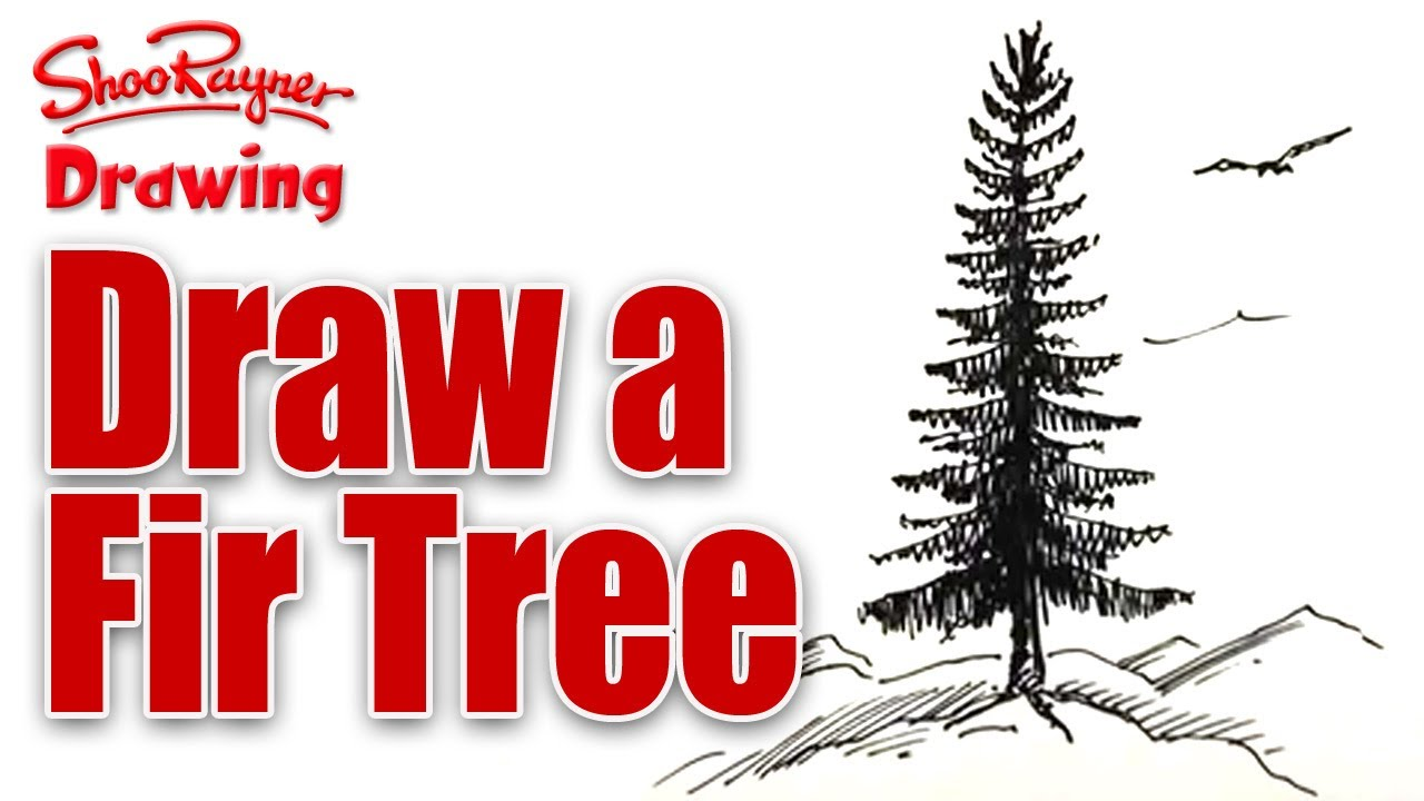 learn to draw a fir tree spoken tutorial