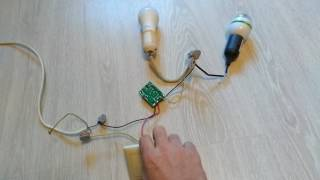 Управление люстрой с одной клавиши и без радио