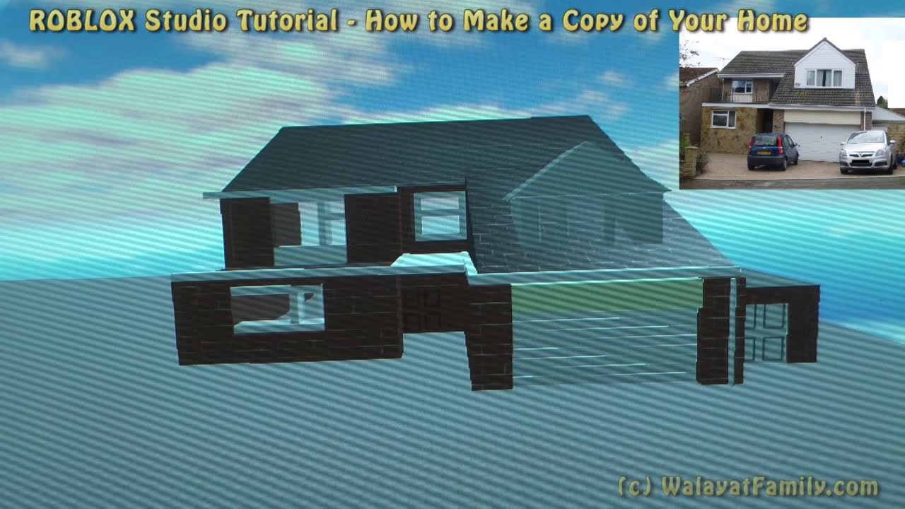Roblox Tutorial How To Make A 3d Model Of Your House In Studio