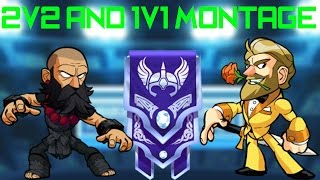 Brawlhalla Montage: 2v2 and 1v1 Death Combos and Sick Plays!