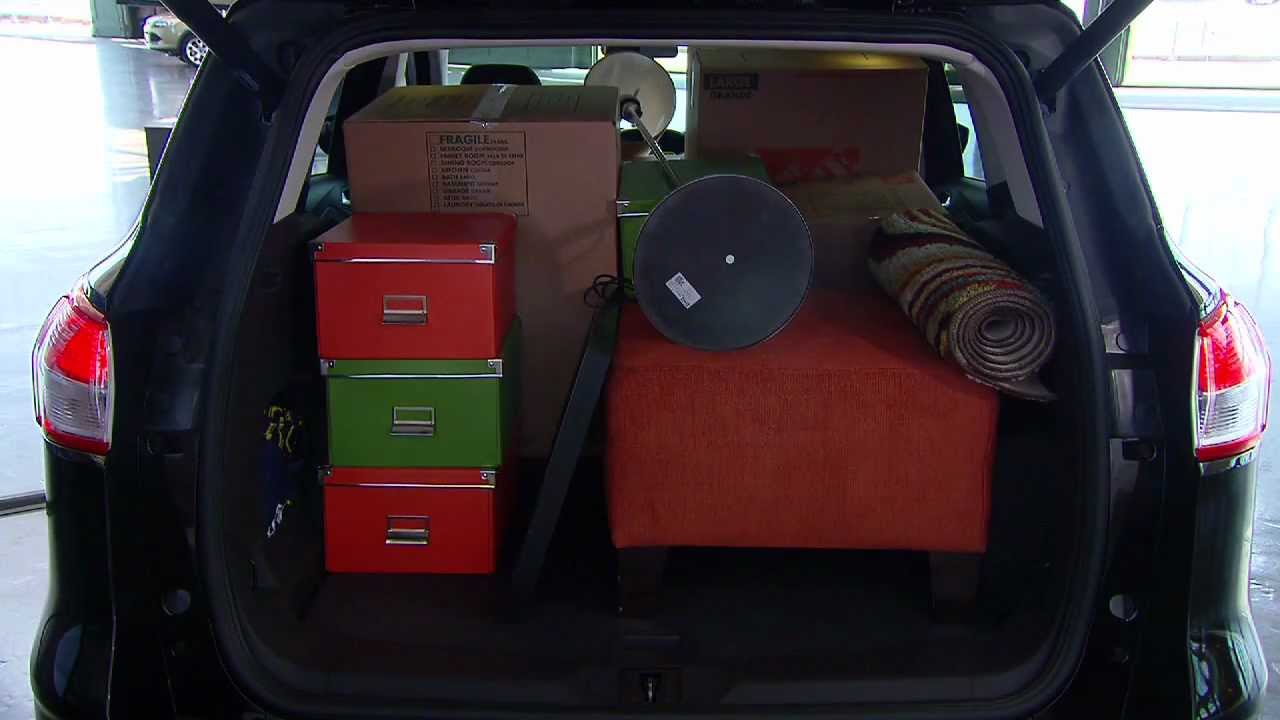 2013 ford escape cargo capacity youtube. Black Bedroom Furniture Sets. Home Design Ideas