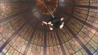 Amazing Aerial Display Of Playing Violin In Qvb Building (part 2)
