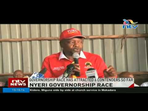 Nyeri politicians intensify campaigns to unseat incumbent Wamathai in governor