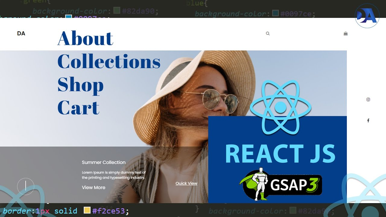 How to create a Complete Responsive Animated Website using React JS and GSAP Animation