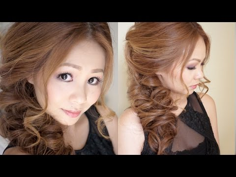 Big Messy Prom Hair Tutorial - YouTube