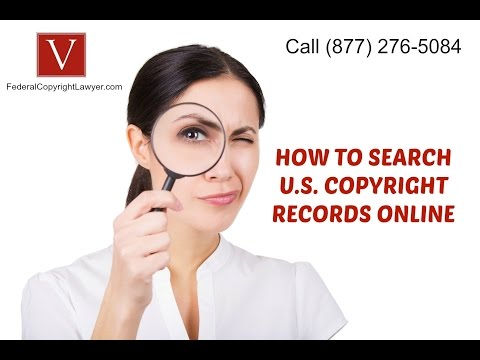 How to Search Copyright Records Online by Attorney Steve