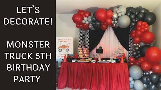 Setup With Me - Monster Truck 5th Birthday Party   Time-Lapse Video
