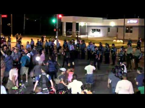 Revolutionary Communist Party incites riots at Ferguson August 18, 2014