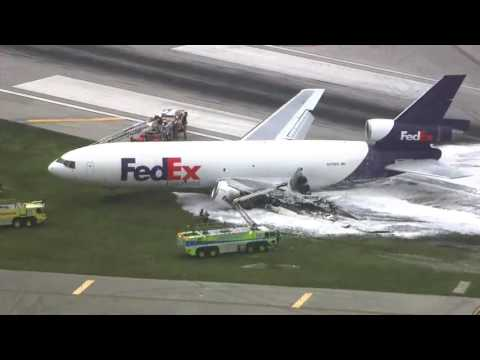 [BREAKING] Breaking: FedEx cargo plane catches fire at Fort Lauderdale - WSVN- 7 News