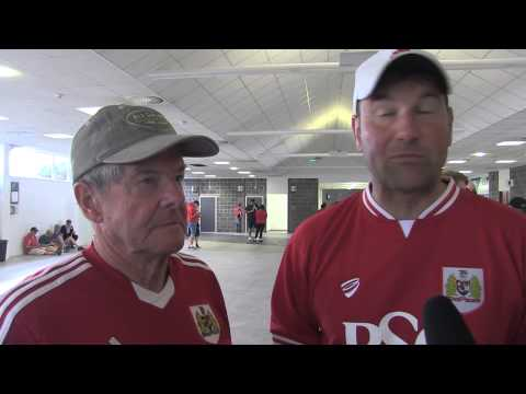 Fan reaction to the new concourse at Ashton Gate