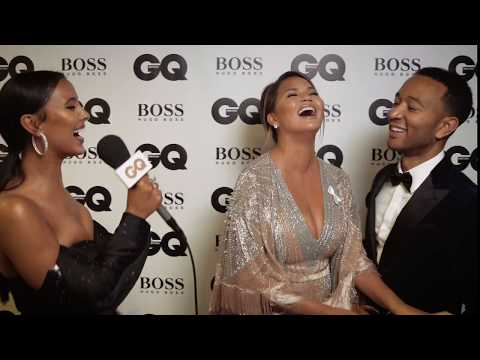 Maya Jama Interviews Chrissy Teigen And John Legend Backstage At The GQ Awards 2018 | British GQ