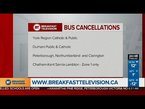 Bus cancellations begin in parts of the GTA due to weather