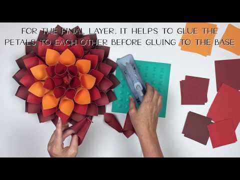 How to make 3D Paper Dahlias