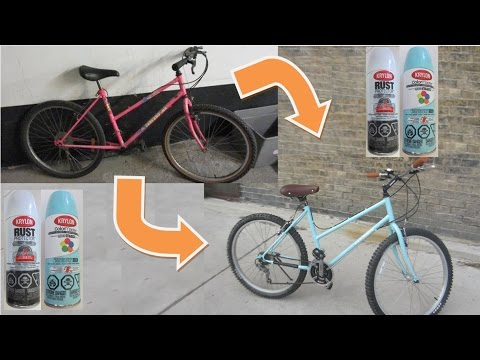 How to Paint a Bike Frame - YouTube