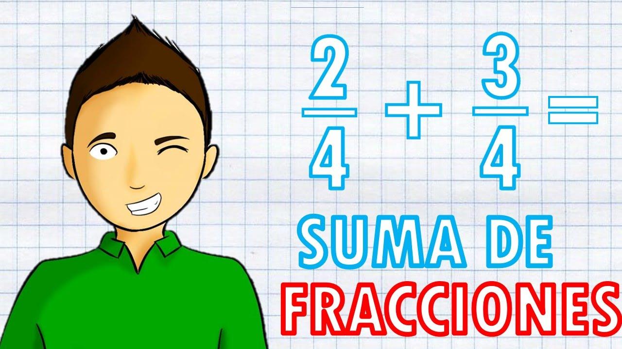 suma de fracciones con el mismo denominador facil